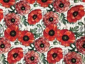 NUTEX PATCHWORK FABRIC - POPPIES ALONE -39770